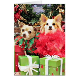 Christmas - Chihuahua - Miles and Ivy Card