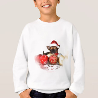 Christmas chihuahua puppy sweatshirt