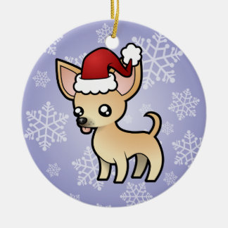 Christmas Chihuahua (smooth coat) Christmas Ornament