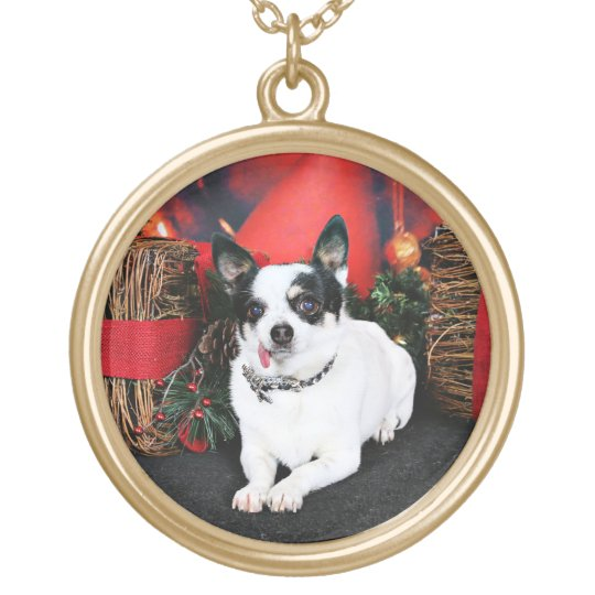 Christmas - Chihuahua X - Stella Gold Plated Necklace