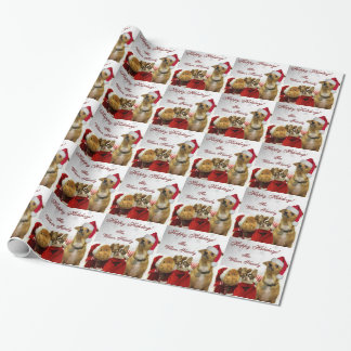 Christmas chihuahuas dog wrapping paper