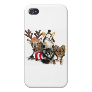 Christmas Chihuahuas iPhone 4/4S Cases