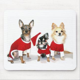 Christmas Chihuahuas Mouse Pad