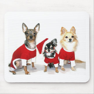 Christmas Chihuahuas Mouse Pads