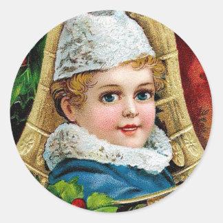Christmas Child Round Sticker