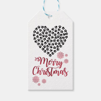 Christmas children gift tag for a new cat or dog