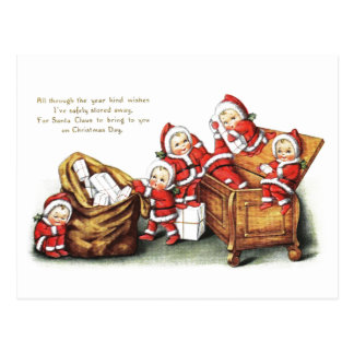 Christmas Children Postcard