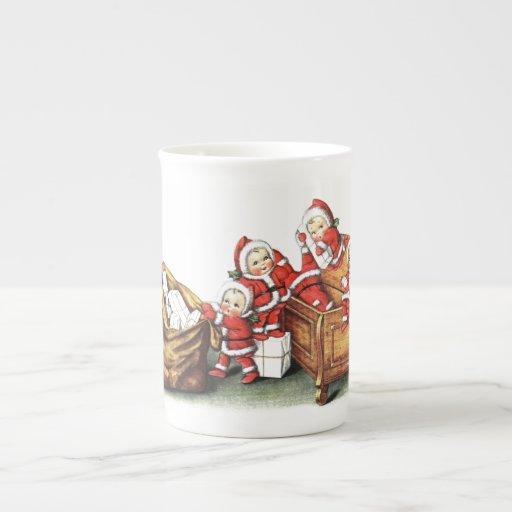 Christmas Children Porcelain Mugs