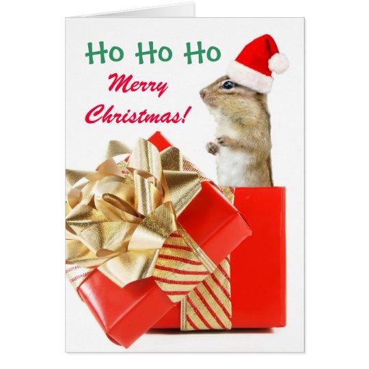 Christmas Chipmunk Card