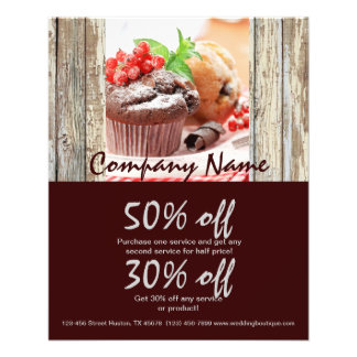 christmas chocolate cake bakery business 11.5 cm x 14 cm flyer