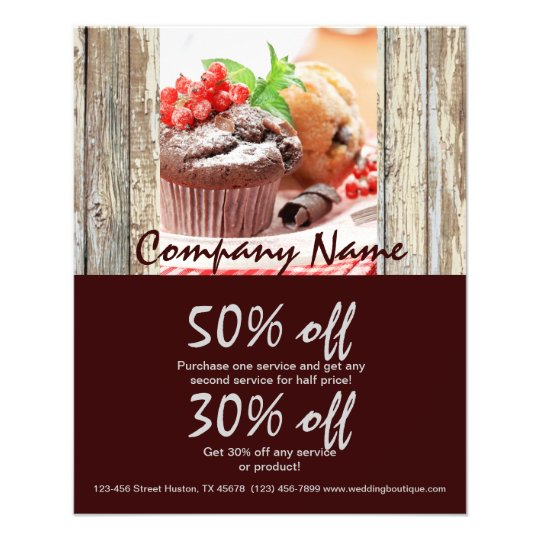 christmas chocolate cake bakery business flyer