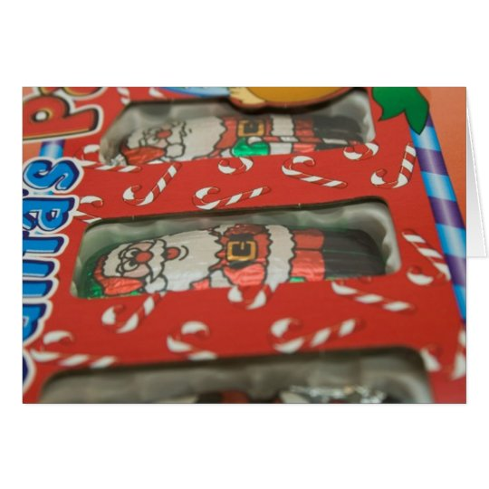 Christmas Chocolate Candy Santa Claus Card
