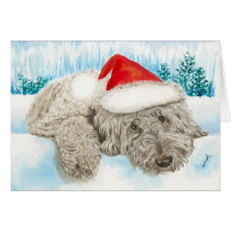 Christmas Chocolate Labradoodle Greeting Card