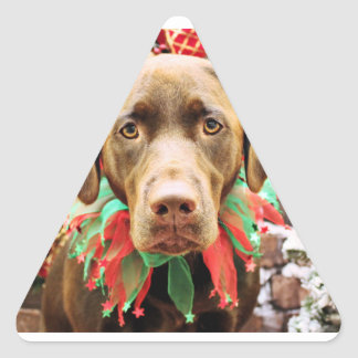 Christmas - Chocolate Labrador - Hershey Stickers