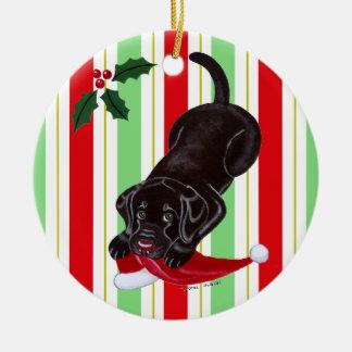 Christmas Chocolate Labrador Puppy Christmas Ornament