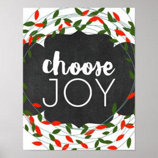 Christmas - Choose Joy - Lights - Poster