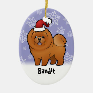 Christmas Chow Chow (add your pets name) Christmas Ornament
