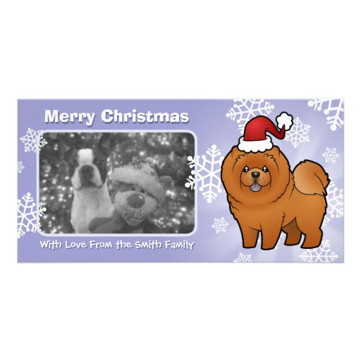 Christmas Chow Chow Picture Card