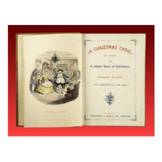 Christmas Christmas Carol Frontispiece Postcards