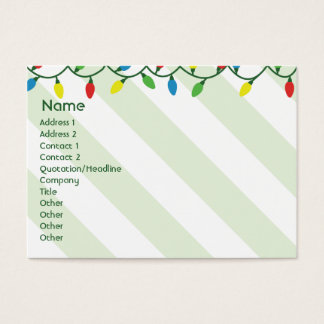 Christmas - Chubby Business Card