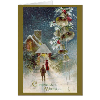 Christmas Church and Bells Card