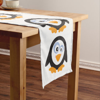 """Christmas Circle of Penguins 14""""X72"""" Table Runner"""