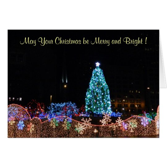 Christmas City Lights Card