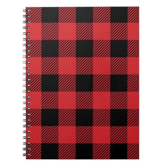 Christmas classic Buffalo check plaid pattern Notebook