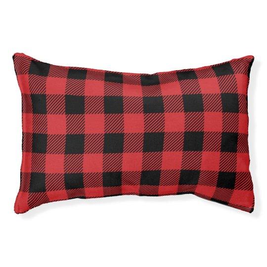 Christmas classic Buffalo check plaid pattern Pet Bed