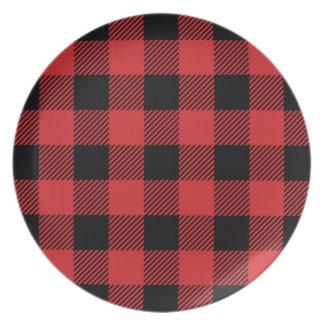 Christmas classic Buffalo check plaid pattern Plate