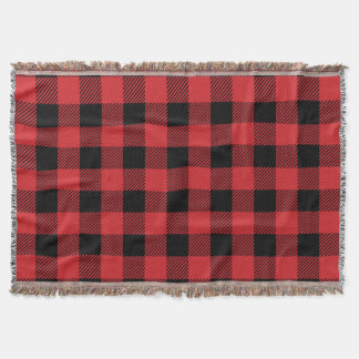 Christmas classic Buffalo check plaid pattern Throw Blanket