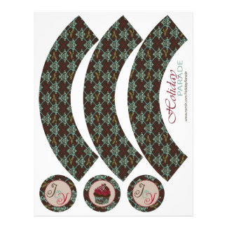 Christmas Classic Cupcake Wrapper Flyer Design