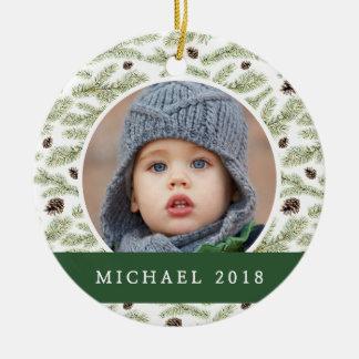 Christmas | Classic Pinecone Pattern Christmas Ornament