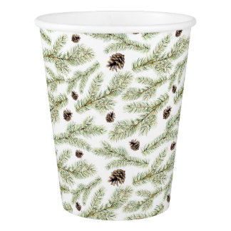 Christmas | Classic Pinecone Pattern Paper Cup