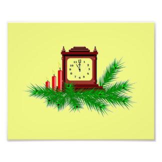 Christmas Clock Photo Art