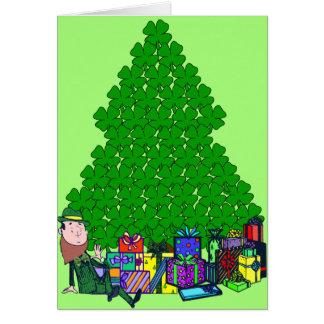 Christmas Clover Card