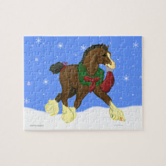 Christmas Clydesdale Horse Colt Puzzle