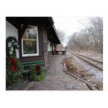 Christmas CNW Depot Postcard