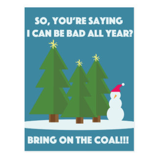Christmas Coal Postcard
