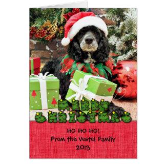 Christmas - Cockapoo - Baxter Card