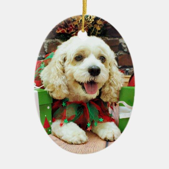 Christmas - Cockapoo - Clancy Christmas Ornament