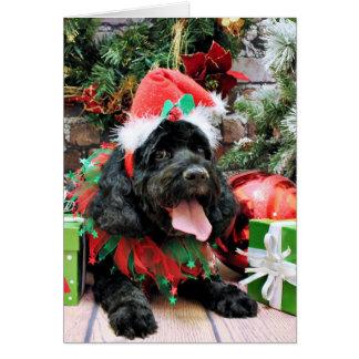 Christmas - Cockapoo - Jack Greeting Card