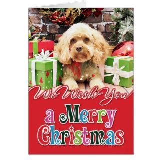 Christmas - Cockapoo - Morgan Greeting Card