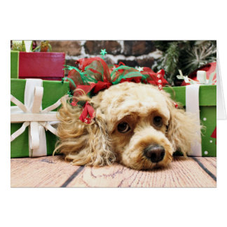 Christmas - Cockapoo - Ruby Card
