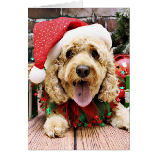 Christmas - Cockapoo - Sadie Card