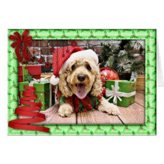 Christmas - Cockapoo - Sadie Greeting Card
