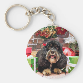 Christmas - Cockapoo - Sadie Key Ring