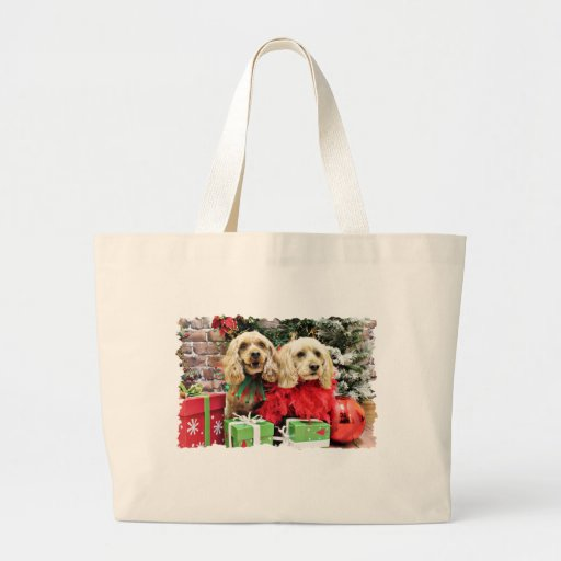 Christmas - Cockapoo - Sugar and Spice Tote Bags