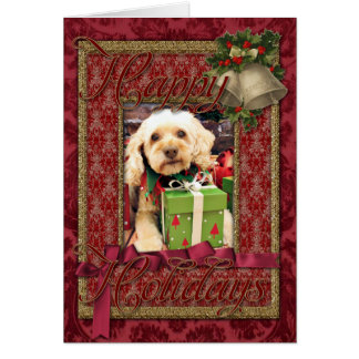Christmas - Cockapoo - Trailer Card
