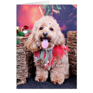 Christmas - Cockapoo - Wriggly Card